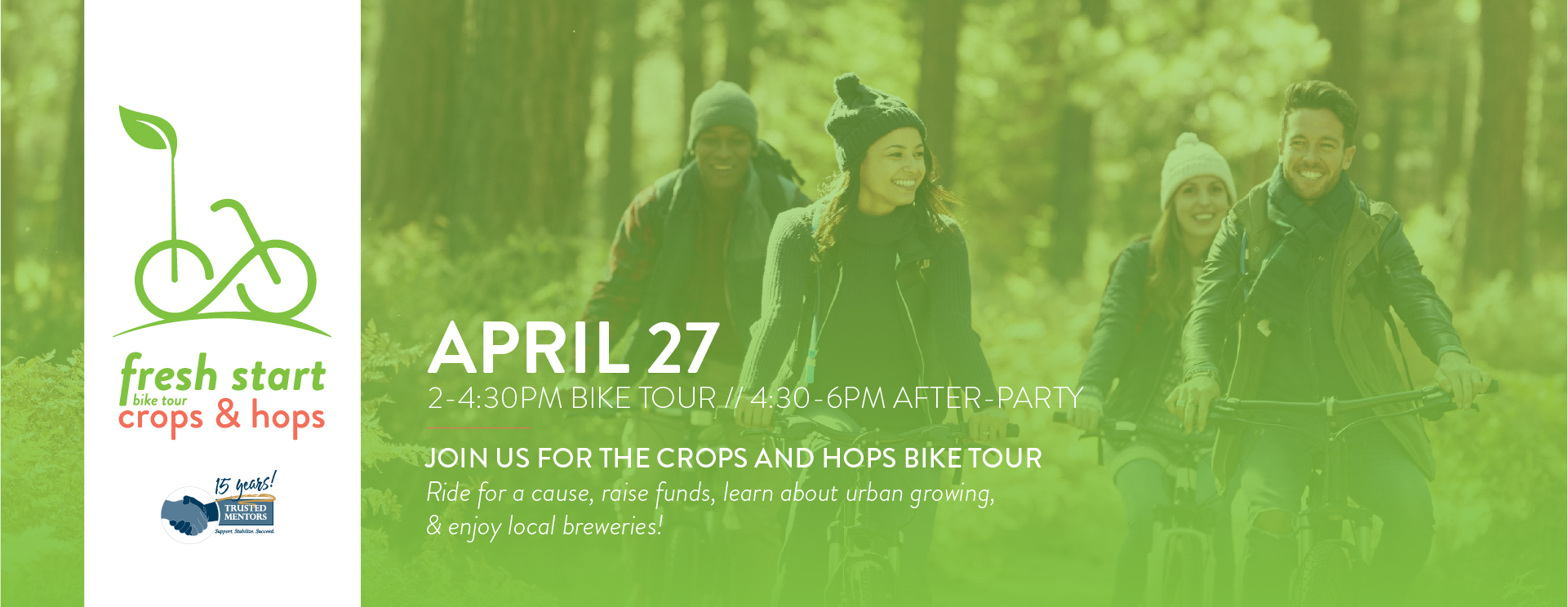 Fresh Start Bike Tour 2019: Crops and Hops